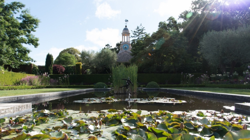 a view from the Filoli Gardens in Woodside