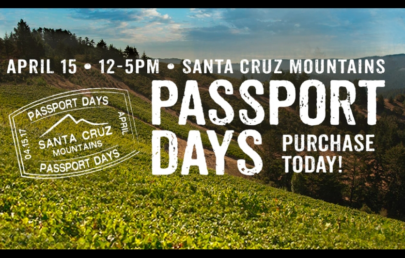 SCMWA Passport Celebration Day - The Santa Cruz Mountains Wine Tasting Event: April 17, 2017, 12-5pm