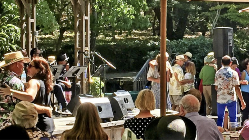 Locals enjoying the jazz at Filoli