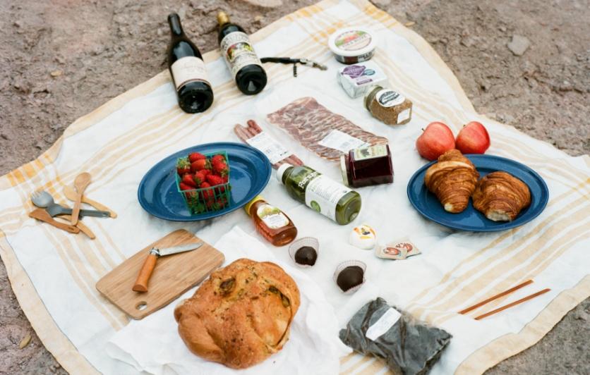 picnic food and supplies