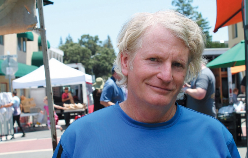 RawDaddy Food owner James Hall at the Sunday farmers market on California Avenue in Palo Alto