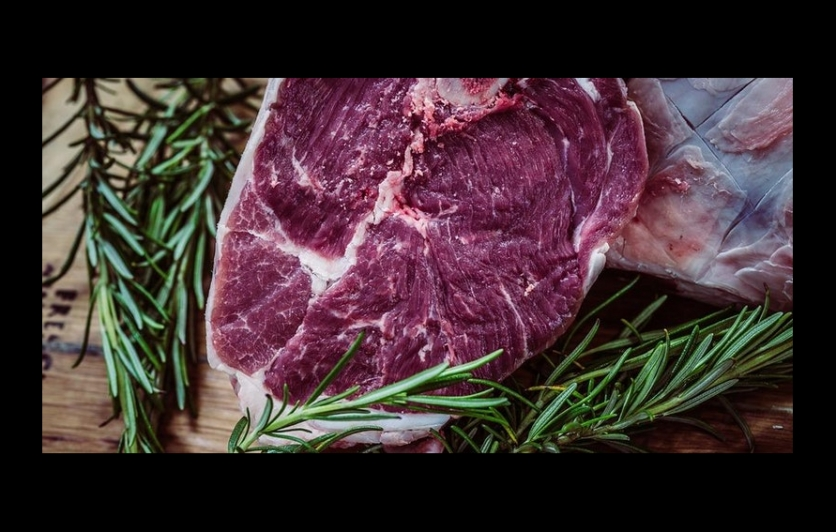 Side of red meat with cholesterol