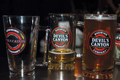 Assorted beers from Devils Canyon Brewery in San Carlos California