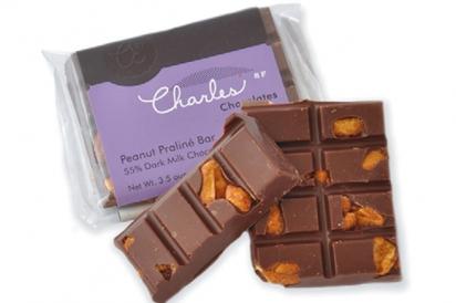 CHARLES CHOCOLATES, Peanut Proline bar