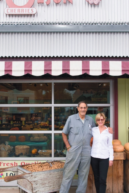 Deborah Olson and Charles Olson of C.J. Olson Cherries