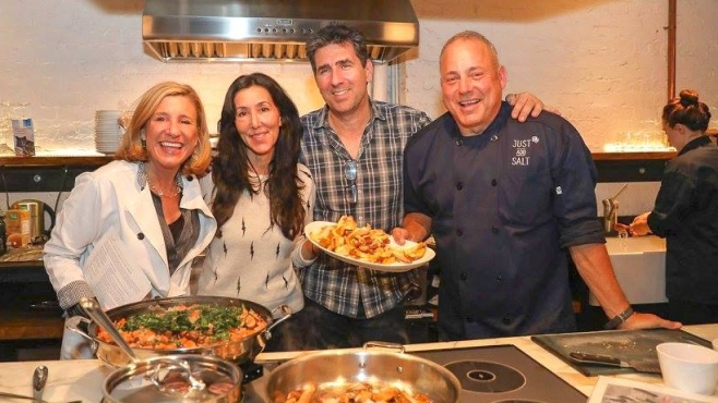 Lynda Marren and Joe Grillo of Just Add Salt, with Urban Remedy Neka Pasquale and Paul Coletta