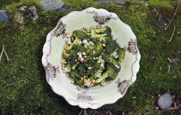 broccoli and bleu cheese side dish