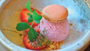 Rose and Strawberry Ice Cream Recipe
